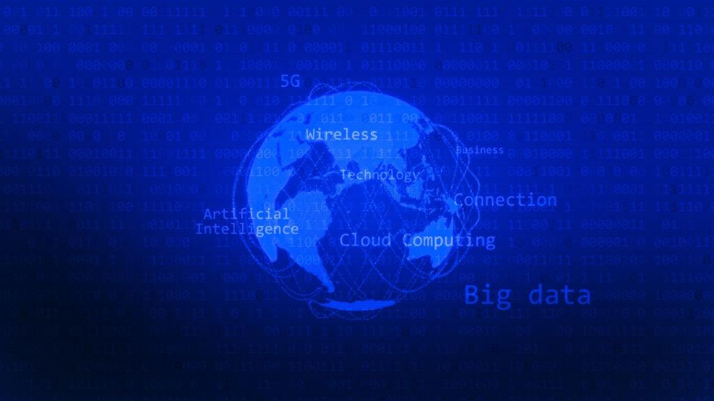 circulo ilustrando tecnologia big data e bi