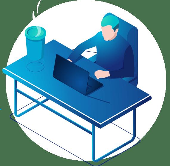 lustração Home-office